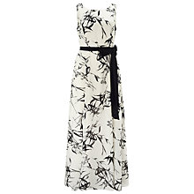 Buy Jacques Vert Bamboo Print Maxi Dress, Cream/Black Online at johnlewis.com