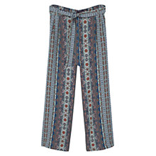 Buy Violeta by Mango Printed Baggy Trousers, Navy Online at johnlewis.com