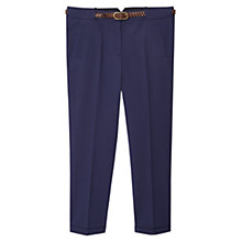 Buy Violeta by Mango Cotton-Blend Trousers Online at johnlewis.com