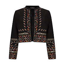 Buy Miss Selfridge Embellished Bolero Jacket, Multi/Black Online at johnlewis.com