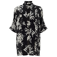 Buy Jacques Vert Eastern Floral Kaftan, Black/Multi Online at johnlewis.com