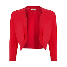Buy Precis Petite Pointelle Detail Shrug, Crimson Online at johnlewis.com