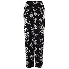 Buy Jacques Vert Eastern Floral Trousers, Black/Multi Online at johnlewis.com