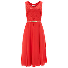 Buy Jacques Vert Cutwork Detail Dress, Poppy Red Online at johnlewis.com