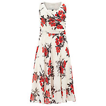 Buy Jacques Vert Oriental Poppy Dress, Multi/Cream Online at johnlewis.com