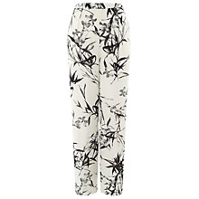 Buy Jacques Vert Bamboo Print Trousers, Cream/Black Online at johnlewis.com