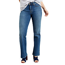 Buy Violeta by Mango Flared Jeans, Open Blue Online at johnlewis.com