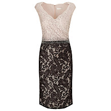Buy Jacques Vert Block Embellished Dress, Black/Cream Online at johnlewis.com