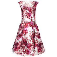 Buy Aidan Mattox Cap Sleeve Cocktail Dress, Red/Multi Online at johnlewis.com