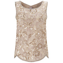 Buy Miss Selfridge Embellished Sequin Shell Top, Nude Online at johnlewis.com