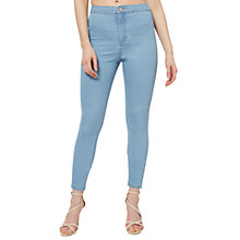 Buy Miss Selfridge Steffi Super High Waist Skinny Jeans, Cloud Blue Online at johnlewis.com