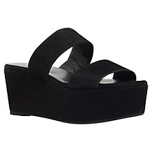 Buy Carvela Klassy Flatform Sandals, Black Suede Online at johnlewis.com