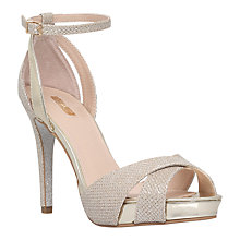 Buy Carvela Gifted Stiletto Sandals, Gold Online at johnlewis.com