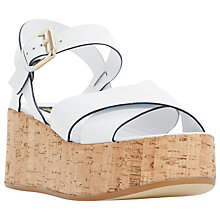 Buy Dune Black Lately Cork Effect Platform Sandals Online at johnlewis.com
