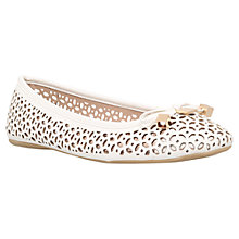 Buy Carvela Lidia Cut Out Pumps, White Online at johnlewis.com