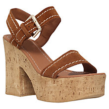 Buy Carvela Kandid Block Heeled Platform Sandals Online at johnlewis.com