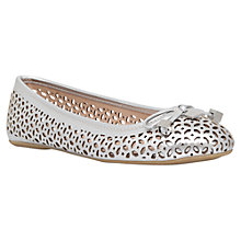 Buy Carvela Lidia Cut Out Pumps, Silver Online at johnlewis.com