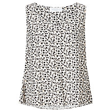 Buy Collection WEEKEND by John Lewis Monochrome Petal Print Sleeveless Top, White/Black Online at johnlewis.com