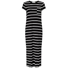 Buy Collection WEEKEND by John Lewis Stripe Column Midi Dress, Black/White Online at johnlewis.com
