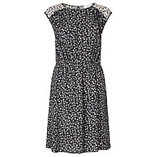 Buy Collection WEEKEND by John Lewis Monochrome Petal Print Dress, Black Online at johnlewis.com