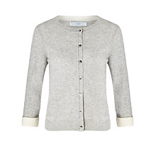 Buy John Lewis Lightweight Cashmere Cardigan, Light Grey Online at johnlewis.com