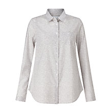 Buy John Lewis Paisley Print Shirt, Silver Grey/White Online at johnlewis.com