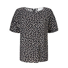 Buy Collection WEEKEND by John Lewis Monochrome Petal Print Top, Black/White Online at johnlewis.com