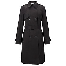 Buy John Lewis Double Breasted Trench Coat, Black Online at johnlewis.com