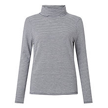 Buy John Lewis Roll Neck Stripe Jersey Top Online at johnlewis.com