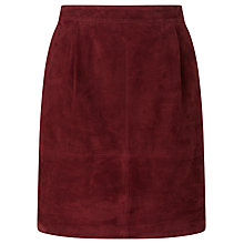 Buy Collection WEEKEND by John Lewis Short Suede Skirt, Burgundy Online at johnlewis.com