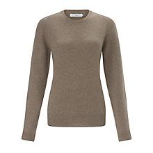 Buy John Lewis Cashmere Crew Neck Jumper, Toast Online at johnlewis.com