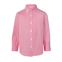 Buy John Lewis Heirloom Collection Boys' Gingham Check Shirt, Pink Online at johnlewis.com