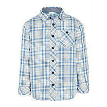 Buy John Lewis Boys' Multi Colour Check Shirt, Blue/Cream Online at johnlewis.com