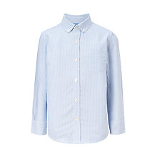 Buy John Lewis Boys' Stripe Oxford Shirt, Blue Online at johnlewis.com