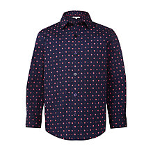 Buy John Lewis Boys' Star Print Shirt, Navy Online at johnlewis.com