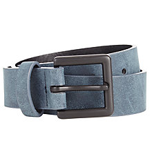 Buy John Lewis Boys' Suedette Belt, Navy Online at johnlewis.com