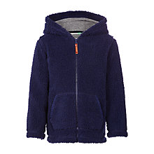 Buy John Lewis Boys' Shaggy Zip Hoodie, Navy Online at johnlewis.com
