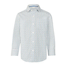Buy John Lewis Boys' Diamond Print Shirt, Cream Online at johnlewis.com