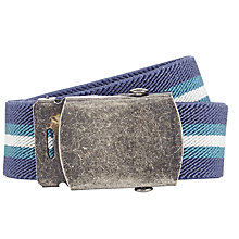 Buy John Lewis Boys' Stripe Stretch Belt, Blue Online at johnlewis.com