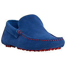 Buy Dune Bermuda Suede Slip-On Loafers, Blue Online at johnlewis.com