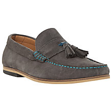 Buy Dune Bonsai Suede Tassel Slip-On Loafers Online at johnlewis.com