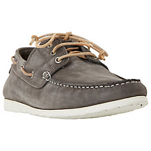 Buy Dune Belize Nubuck Lace-Up Boat Shoes, Grey Online at johnlewis.com