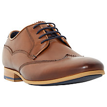 Buy Dune Rookie Leather Wingtip Lace-Up Derby Shoes Online at johnlewis.com