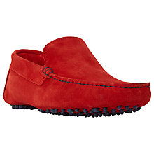 Buy Dune Bermuda Suede Slip-On Loafers, Red Online at johnlewis.com