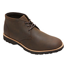 Buy Rockport Classic Zone Leather Lace-Up Chukka Boots, Brown Online at johnlewis.com