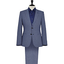 Buy Reiss Trion Tonal Weave Modern Fit Suit, Blue Online at johnlewis.com