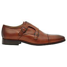 Buy Reiss Finn Double Monk Strap Shoes, Tan Online at johnlewis.com
