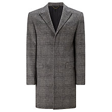 Buy John Lewis Black and White Check Coat, Black/White Online at johnlewis.com