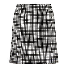 Buy Miss Selfridge Grid A-Line Skirt, Multi Online at johnlewis.com