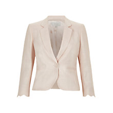Buy Hobbs Madeleine Jacket, Blush Online at johnlewis.com